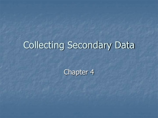 Collecting Secondary Data