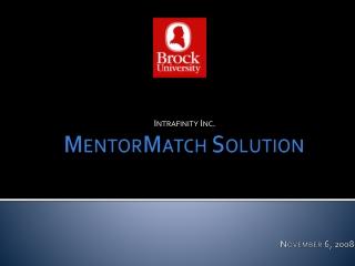 MentorMatch Solution
