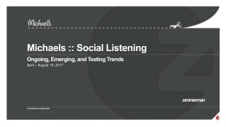 Michaels  ::  Social Listening