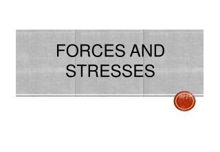 FORCES AND STRESSES