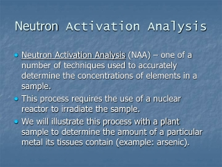 Neutron  Activation Analysis