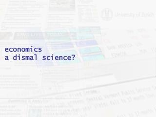economics a dismal science?
