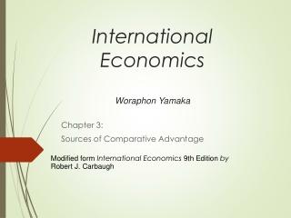 International Economics Woraphon Yamaka