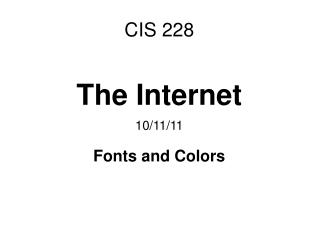 CIS 228