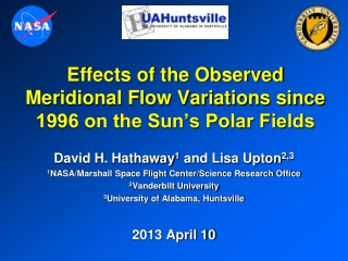 Effects of the Observed Meridional Flow Variations since 1996 on the Sun's Polar Fields