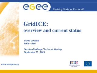 GridICE: overview and current status
