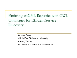 Enriching ebXML Registries with OWL Ontologies for Efficient Service Discovery