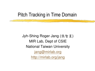 Pitch Tracking in Time Domain