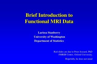 Larissa Stanberry  University of Washington Department of Statistics