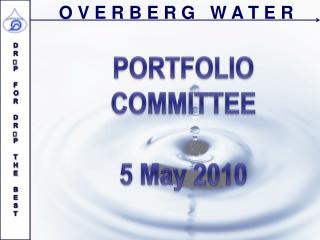 PORTFOLIO  COMMITTEE 5  May  2010