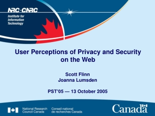 User Perceptions of Privacy and Security on the Web
