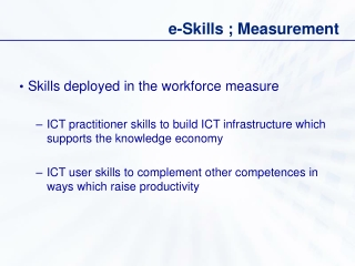 e-Skills ; Measurement
