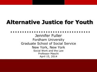 Alternative Justice for Youth