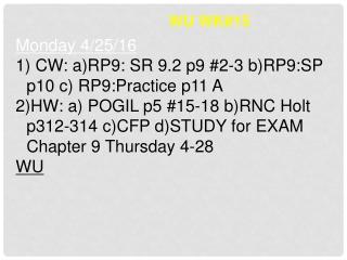 WU WK#15