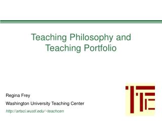 Teaching Philosophy and Teaching Portfolio