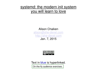 systemd: the modern init system you will learn to love