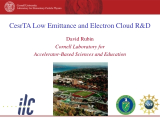 CesrTA Low Emittance and Electron Cloud R&D