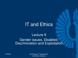 IT and Ethics