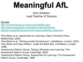 Amy Simpson Lead Teacher of Science Sources community.tes.co.uk/forums/t/300200.aspx