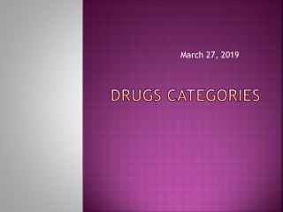 DRUGS Categories