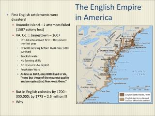 The English Empire in America