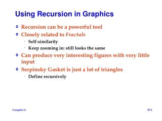 Using Recursion in Graphics