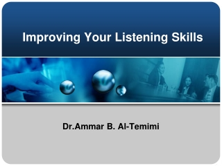 Improving Your Listening Skills
