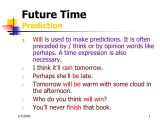 Future Time Prediction