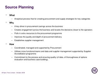 Source Planning