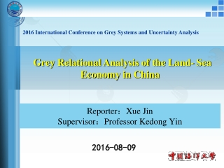 Grey Relational Analysis of the Land- Sea Economy in China