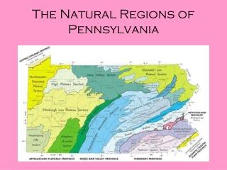 The Natural Regions of Pennsylvania