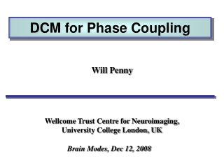 DCM for Phase Coupling