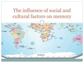 The influence of social and cultural factors on memory