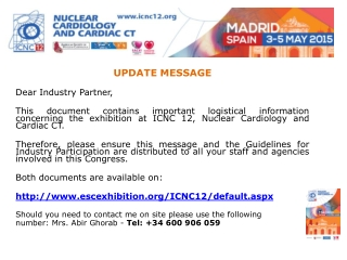 UPDATE MESSAGE Dear Industry Partner,