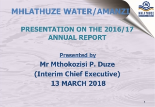 MHLATHUZE WATER/AMANZI