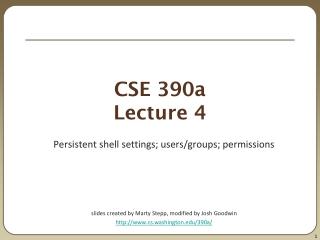 CSE 390a Lecture 4