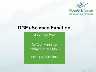 OGF eScience Function