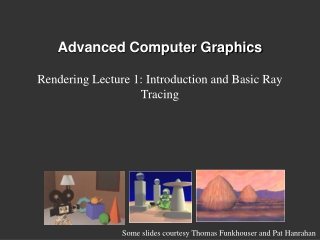 Advanced Computer Graphics