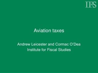 Aviation taxes