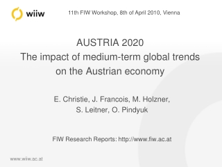 AUSTRIA 2020 The impact of medium-term global trends on the Austrian economy