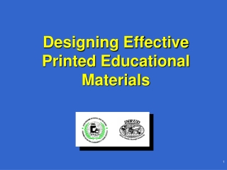 Designing Effective Printed Educational Materials