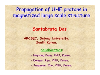 Propagation of UHE protons in magnetized large scale structure
