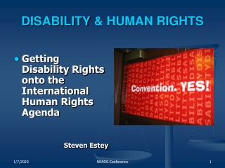 DISABILITY & HUMAN RIGHTS