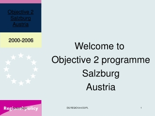 Welcome to  Objective 2 programme Salzburg Austria