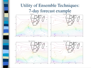 Utility of Ensemble Techniques: 7-day forecast example