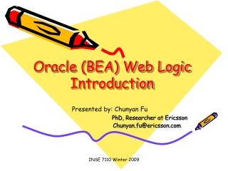 Oracle (BEA) Web Logic Introduction