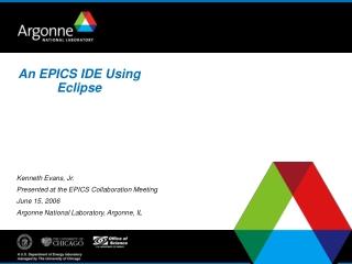 An EPICS IDE Using Eclipse