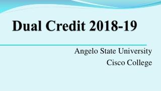 Dual Credit 2018-19