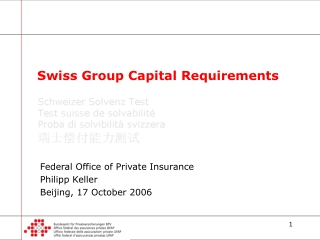 Swiss Group Capital Requirements