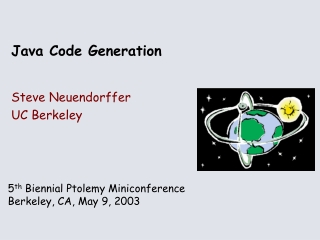 Java Code Generation